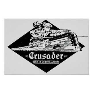 The Reading Railroad Crusader Streamliner Poster