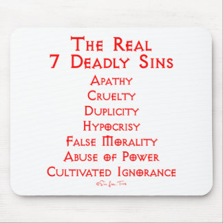 The REAL 7 Deadly Sins Mouse Mat