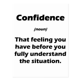 The Real Definition of Confidence Postcard