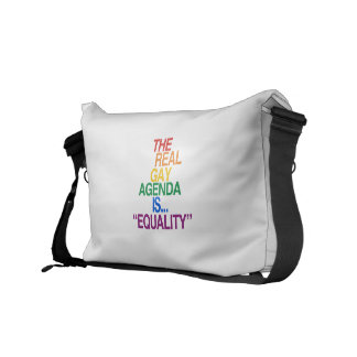 THE REAL GAY AGENDA COMMUTER BAGS
