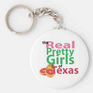 the real PRETTY GIRLS of Texas Basic Round Button Key Ring