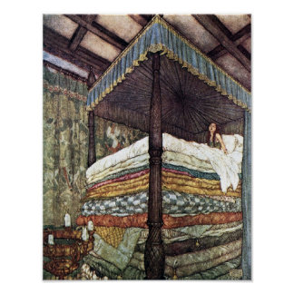 The Real Princess Edmund Dulac Fairy Tale Art Poster