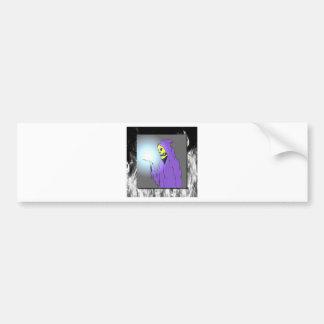 The Reaper and Flames Bumper Sticker