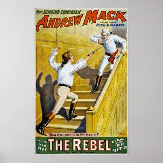 The Rebel ~ Irish Rebellion 1798 ~Irish Songs 1900 Poster