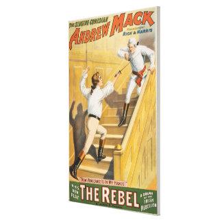 """The Rebel"" Irish Rebellion Drama - Fencing Canvas Print"
