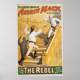 """The Rebel"" Irish Rebellion Drama - Fencing Poster"