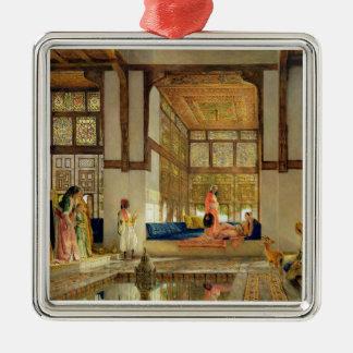 The Reception, 1873 (oil on panel) Silver-Colored Square Decoration