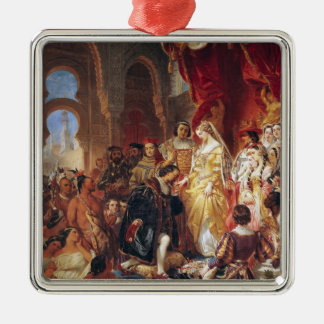 The Reception of Christopher Columbus Christmas Ornament