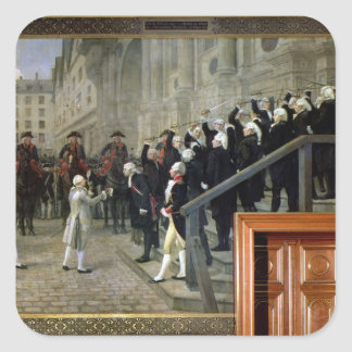 The Reception of Louis XVI at the Hotel de Ville b Square Stickers