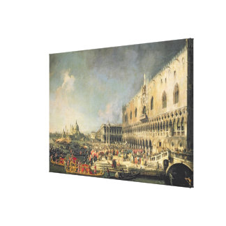 The Reception of the French Ambassador in Venice, Canvas Print