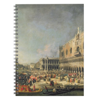 The Reception of the French Ambassador in Venice, Notebook