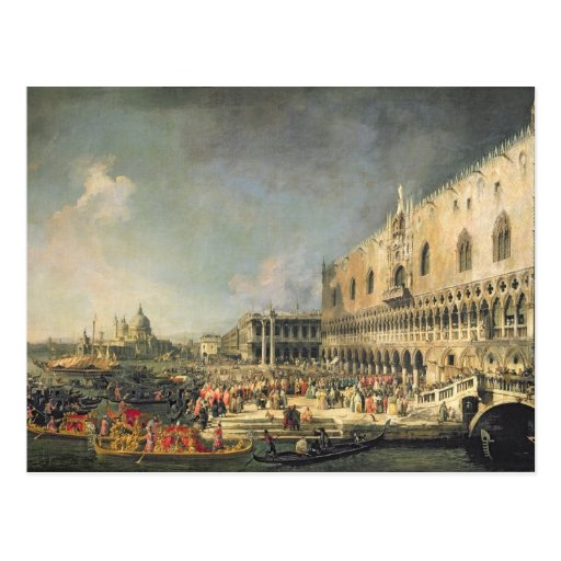 The Reception of the French Ambassador in Venice, Postcards