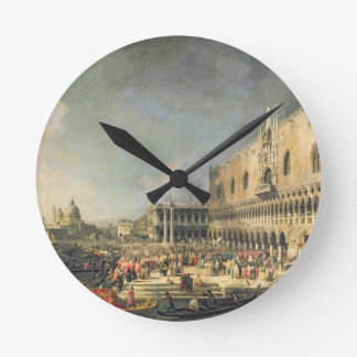The Reception of the French Ambassador in Venice, Round Clock