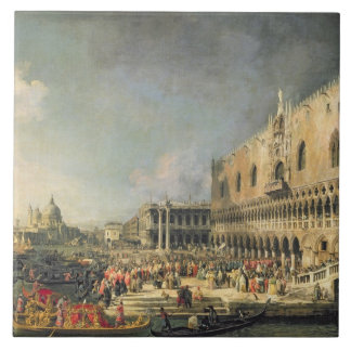 The Reception of the French Ambassador in Venice, Tile