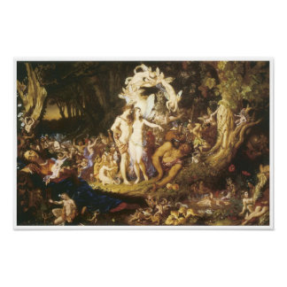 The Reconciliatin of Oberon and Titania, 1847 Poster