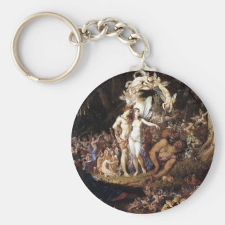 The Reconciliation of Titania and Oberon Basic Round Button Key Ring