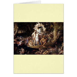 The Reconciliation of Titania and Oberon Greeting Card