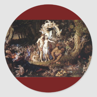 The Reconciliation of Titania and Oberon Round Sticker