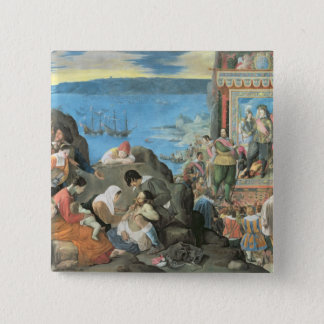 The Recovery of the Bay of San Salvador 15 Cm Square Badge