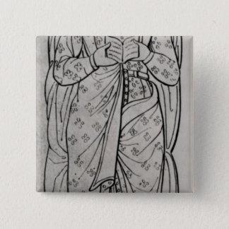 The Recumbant Eleanor of Aquitaine 15 Cm Square Badge