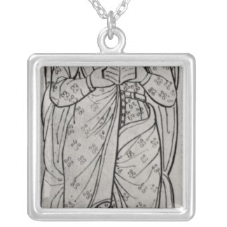 The Recumbant Eleanor of Aquitaine Silver Plated Necklace
