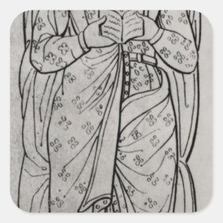 The Recumbant Eleanor of Aquitaine Square Sticker