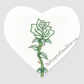 The Recycled Green Rose, Heart Stickers