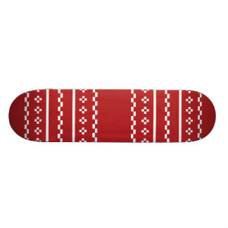 The Red and White Christmas Sweater Skate Board Decks