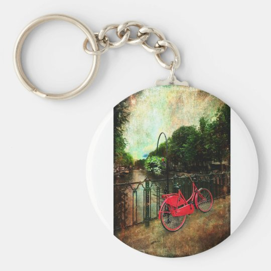 The Red Bicycle Key Ring