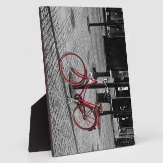 The red bicycle plaque