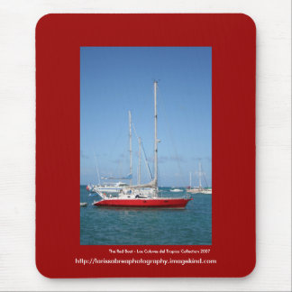 The Red Boat - Customized Mouse Pad