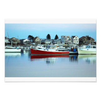The Red Boat Floating On The Water, Wells Maine Photo Print