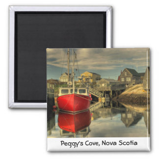 The Red Boat, Peggy's Cove, Nova Scotia Magnet