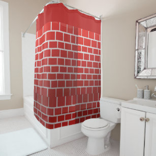 The Red Brick Shower Curtain