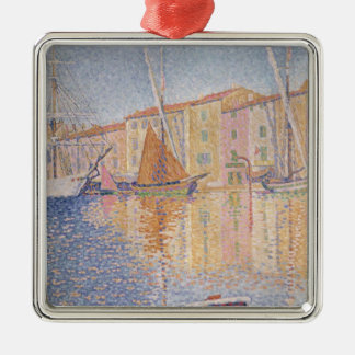 The Red Buoy, Saint Tropez, 1895 Silver-Colored Square Decoration
