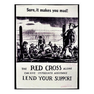 The Red Cross Alone Can Give Immediate Assistance Postcard