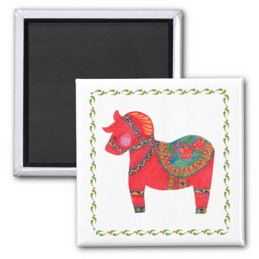 The Red Dala Horse Magnets