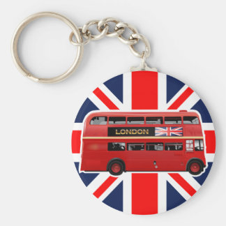 The Red Double-Decker London Bus Key Ring