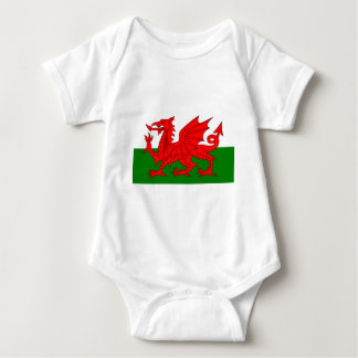 The Red Dragon [Flag of Wales] Baby Bodysuit