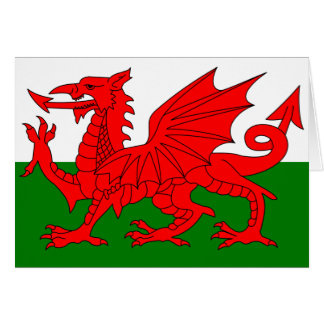 The Red Dragon [Flag of Wales] Card