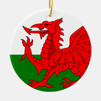 The Red Dragon [Flag of Wales] Christmas Ornament