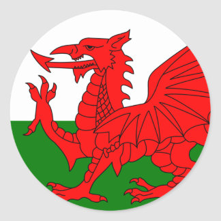 The Red Dragon [Flag of Wales] Classic Round Sticker
