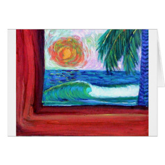 the red edge sunset greeting card