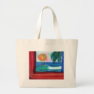 the red edge sunset large tote bag