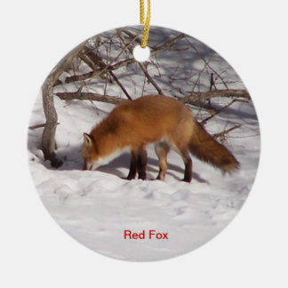 The Red Fox Christmas Ornament