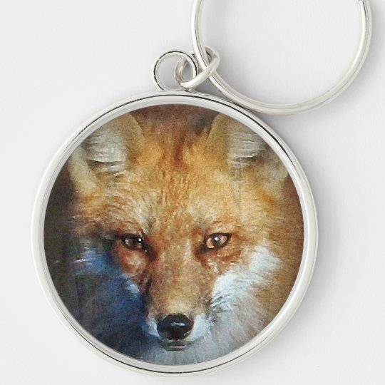 The Red Fox Gifts & Greetings Silver-Colored Round Key Ring