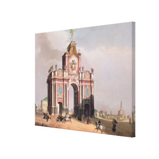 The Red Gate in Moscow Canvas Print