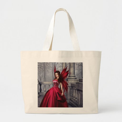 The Red Glamour Fairy Tote Bag