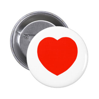 The Red Heart 6 Cm Round Badge