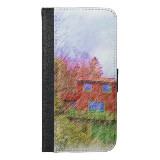 The red house iPhone 6/6s plus wallet case